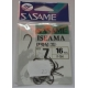 Anzois Sasame Iseama nº7 F-764 Black Nickel 16 Pcs